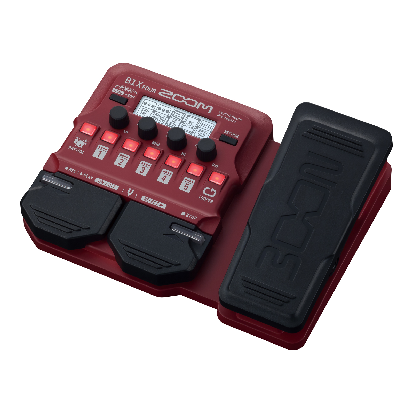 zoom b1x four multi effects processor w expression pedal for bass guitar 884354020705 ebay. Black Bedroom Furniture Sets. Home Design Ideas